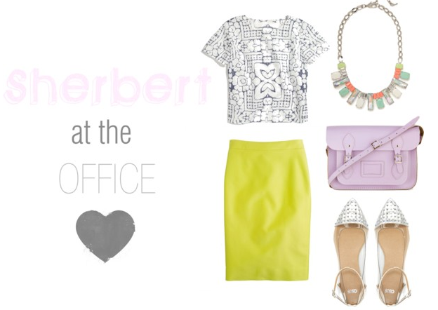 Work to Weekend Wear: Sherbert Trend